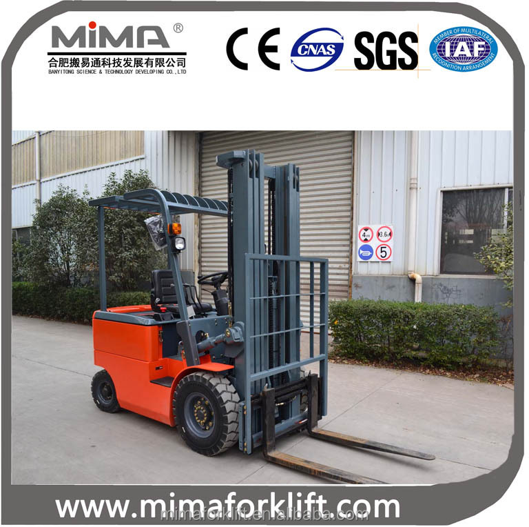 electric fork lift truck 3 stage 2 tonn forklift with side shift