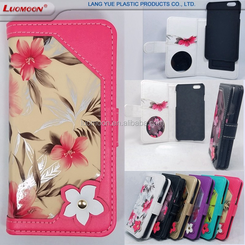 leather wallet pu card slot with pc o tpu slider feature phone case for iphone 5 6 7 s plus se