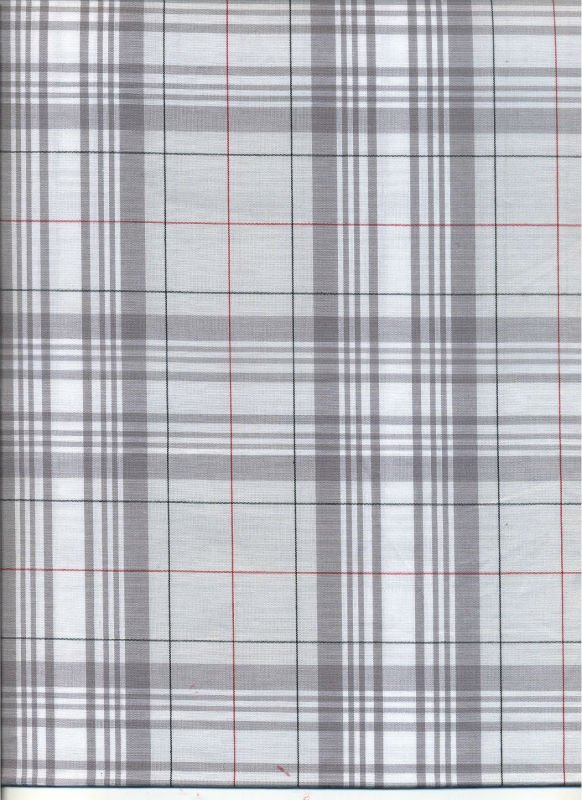 100% cotton y/d poplin big check