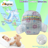 Ultra absorbant disposable sleepy cloth baby diaper products manufacturer in China