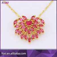 Hot Design Glass Stone Gold Chain