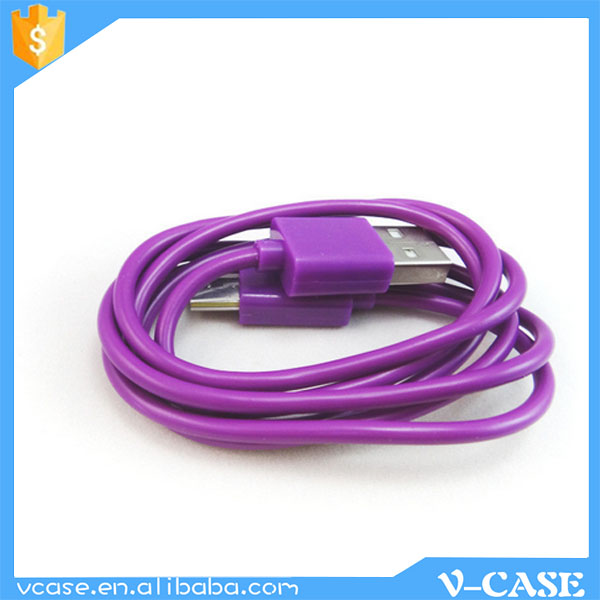 High Speed USB Data Cable For Mobile Phone Flat 12V USB Charger Cable