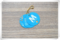 Custom round paper hang tags with metal string
