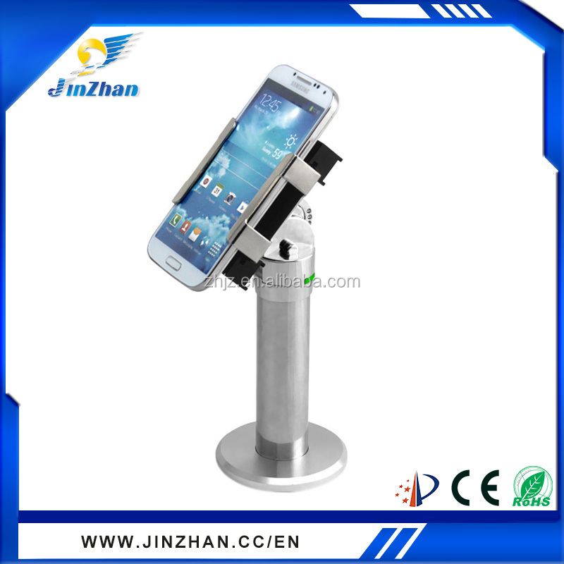 cell phone display stand, mobile phone retail anti theft security device, cell phone locator device