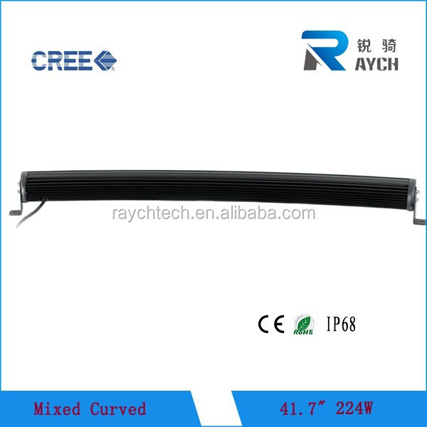 224w 40 inch curved off road led light bar c ree for car truck atv mining boat light 4WD off road led 4x4 light bar