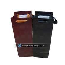 New Style OEM logo printed high grade wine tote bag wholesale