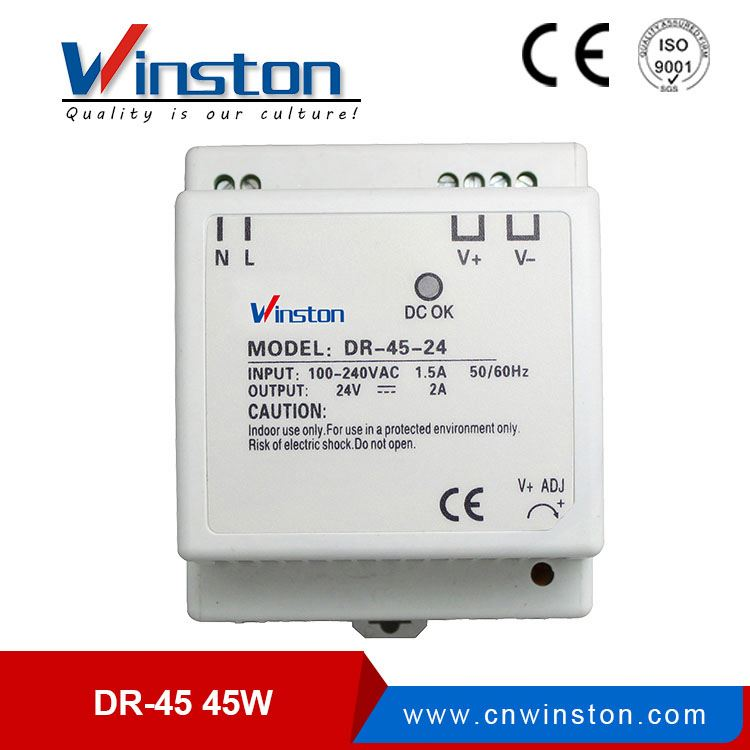 ISO9001 CE Rohs 12v dc constant voltage power <strong>driver</strong> 12v 45w din rail power supply