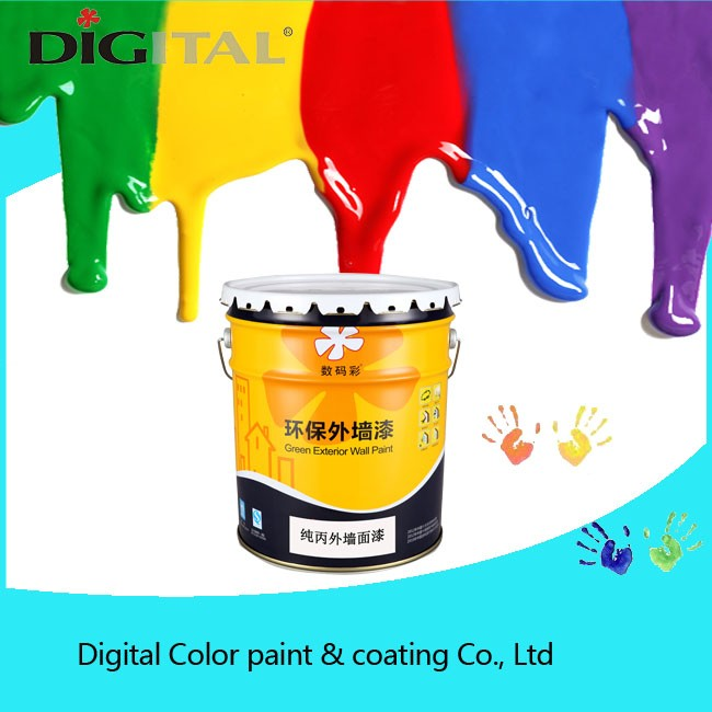 Washing resistance and stain resistance pure acrylic exterior wall paint