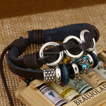 Hot Selling Handmade Jewelry Multilayer Flower Charm Metal Bracelets