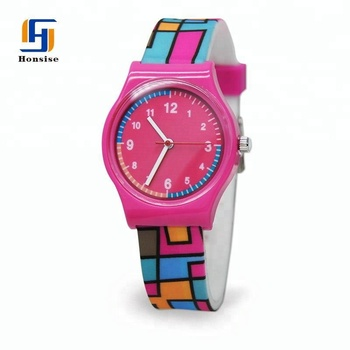 OEM Wholesale Price Fashionable Customized Logo Kids Waterproof Colorful Silicone Quartz Watch