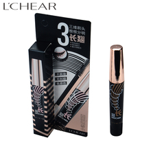 593070 LCHEAR brand 3d fiber lashes mascara private label No Logo 3D Fiber Lei Qi root clear long mascara