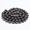 Tryme AAA+Natural Round Shape Stone Black Hematite Beads Round Loose Bead Stone Ball Selectable 8 MM For Jewelry DIY Bracelet Ma