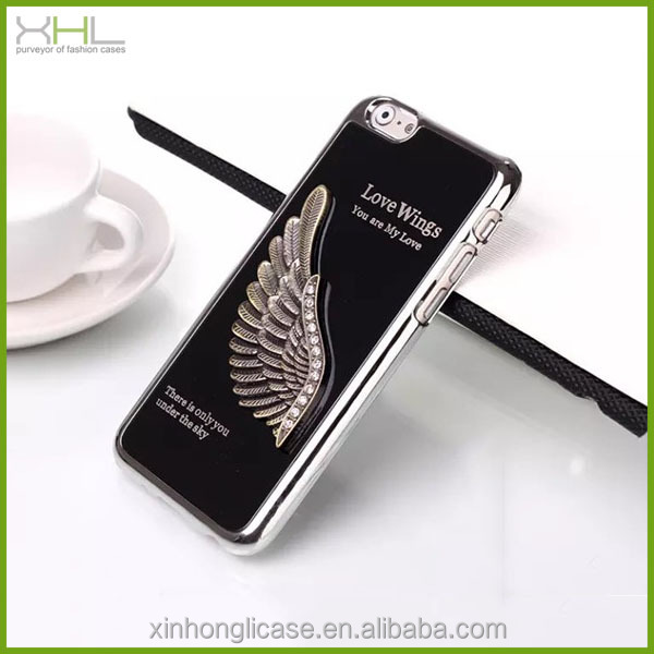 Embossed metal plating cell phone case for iphone 6