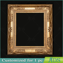 Oil painting Picture Photo Certificate Frame Antique Gold Molding with Rich Floral Designs Wooden Frame