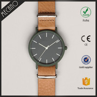 Unisex Alloy Rologio Japan Movt Quartz Watch Fashion Western Wrist Watches With Soft Leather