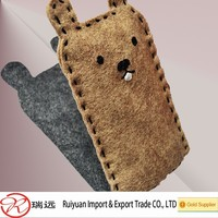 Alibaba express durable bulk felt phone case