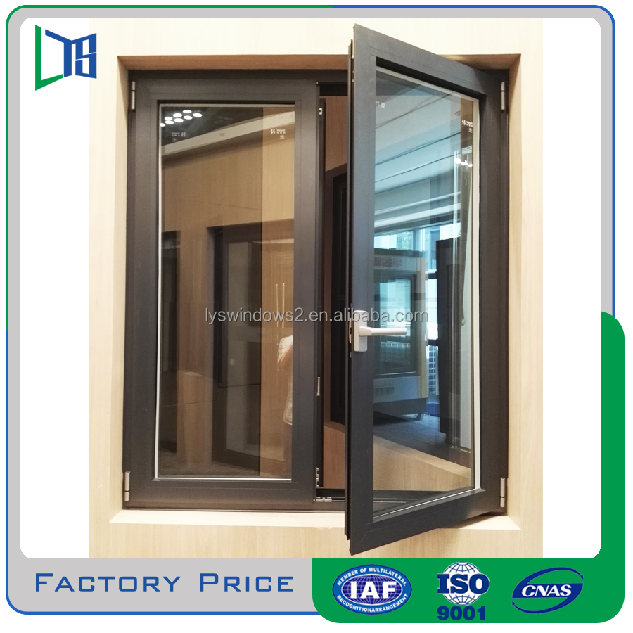 2016 New style toughened glass aluminium french casement window