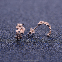 Wholesale 925 silver Charm Heart shape silver stud earring new earring Jewelry wire-drawing promotion charms FE310