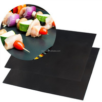 Highest Quality BBQ Grill And Baking Sheets 100%non-stick Works on Charcoal,Gas or Electric Grill and as Pan Liner.Reusable