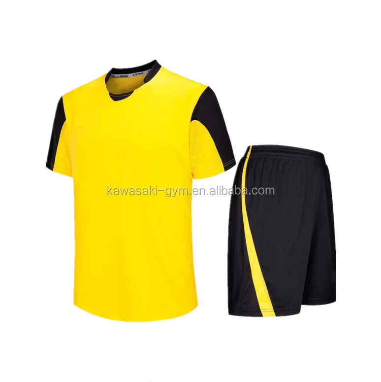wholesale unisex sublimation blacnk soccer team wear shirts with shorts
