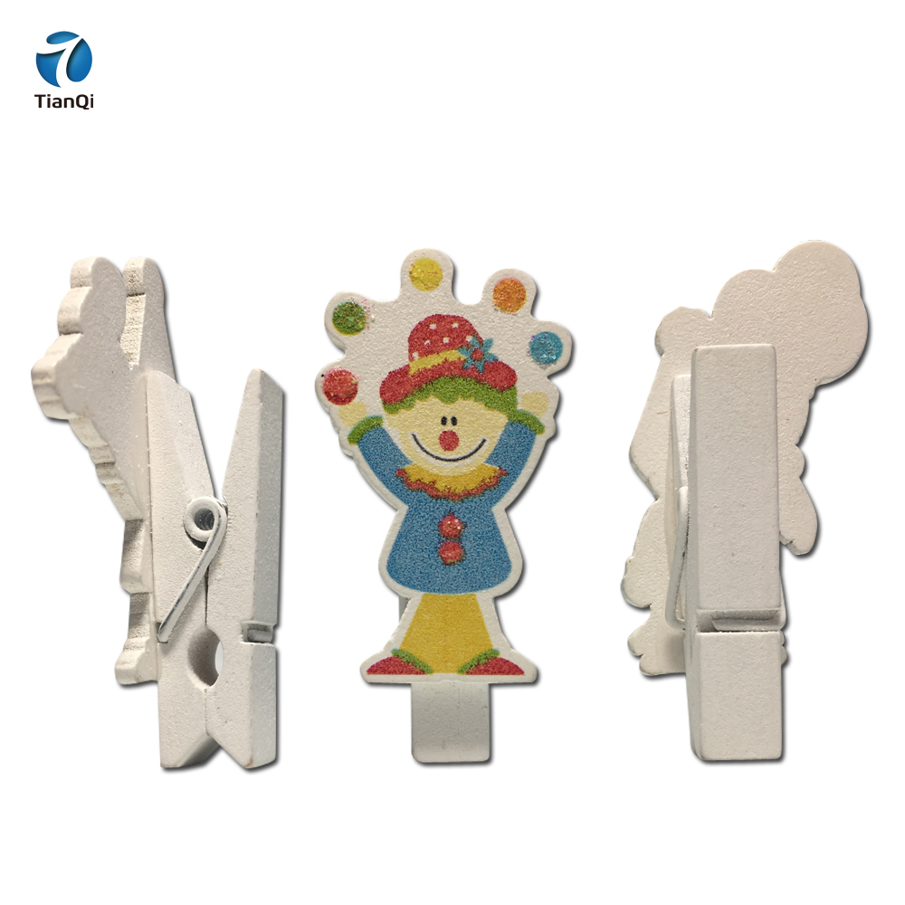 colorful decoration cartoon wooden <strong>craft</strong> pegs wood clothespins,wooden clips