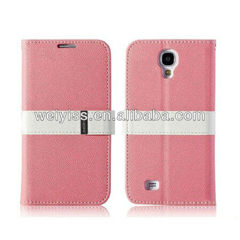 2013 new product for sumsung galaxy s4 leather case