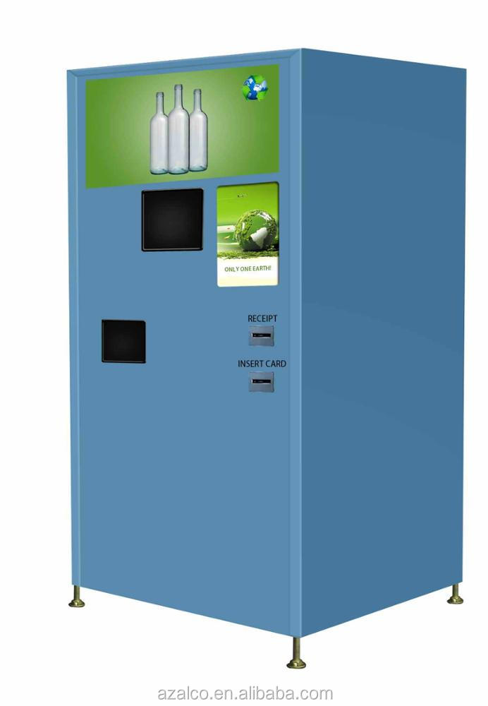 Optional Touch screen Glass Reverse vending machine for recycling