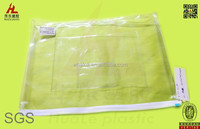 clear vinyl A5 file bags with zipper