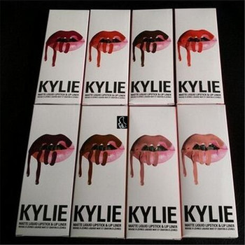 Bravo HOT NEW Kylie Lip Kit by kylie jenner Liquid Matte Lipstick Lip Gloss Set 8 color High-quality