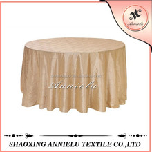 Cheap wedding pintuck taffeta wedding table cloth