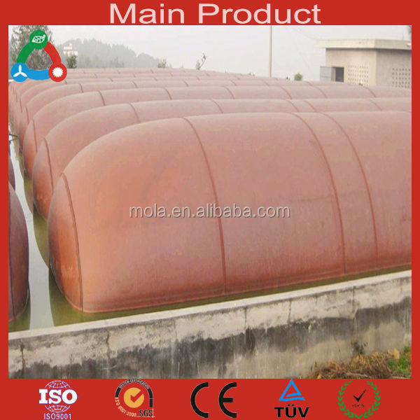2015 New products technology material reliable reinforce waste water treatment biogas plant for chicken farm systems