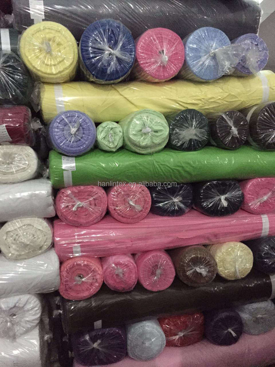 Hanlin textile stock lot chiffon for woven cloth