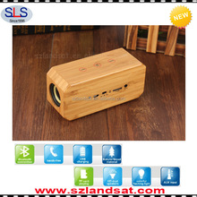 2016 best selling christmas products large wireless natural bamboo wood speaker bluetooth speaker for mobile phone BSW16
