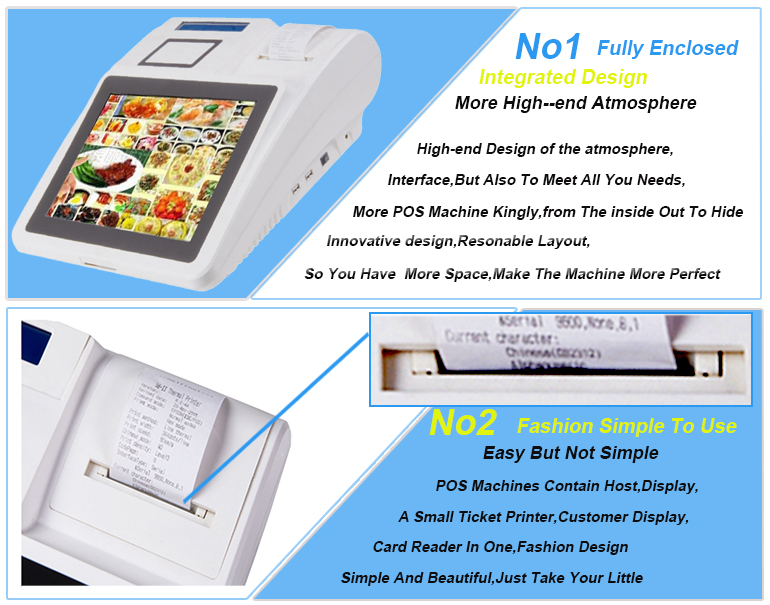 Unique crazy selling 12 inch restaurant ordering android pos machine