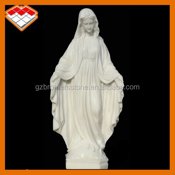 Full hand white marble stone carved famous woman life size statue type virgin mary statues