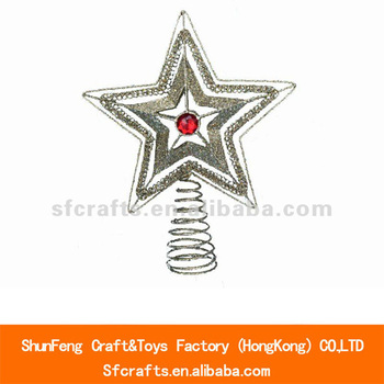 2013 modern metal christmas star tree topper