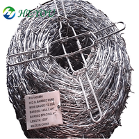 used protection BS4483 British standard Q195 material 2.5*2.0mm traditional twisted galvanized barbed wire price per roll kenya