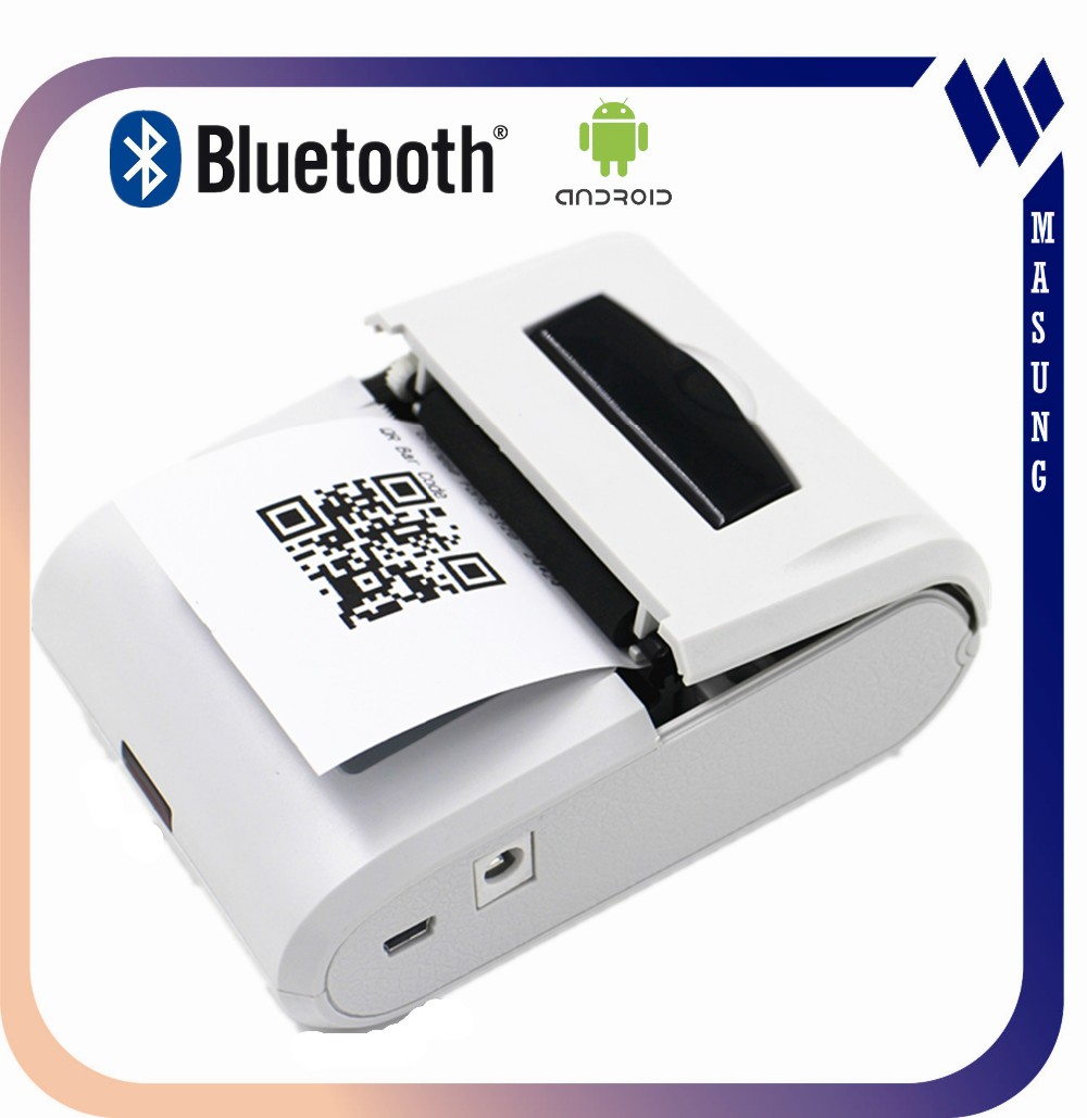 Long time working thermal wireless58mm bluetooth usb printer with adapter
