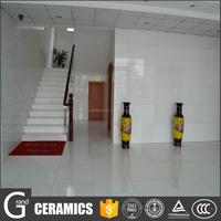 foshan grand ceramics high quality anti-slip white shiny quartz floor tile