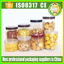 clear PET Plastic Type peanut butter jar 200g 250g 300g packing jars for honey