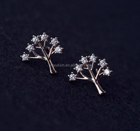 Popular wishing tree earring stud