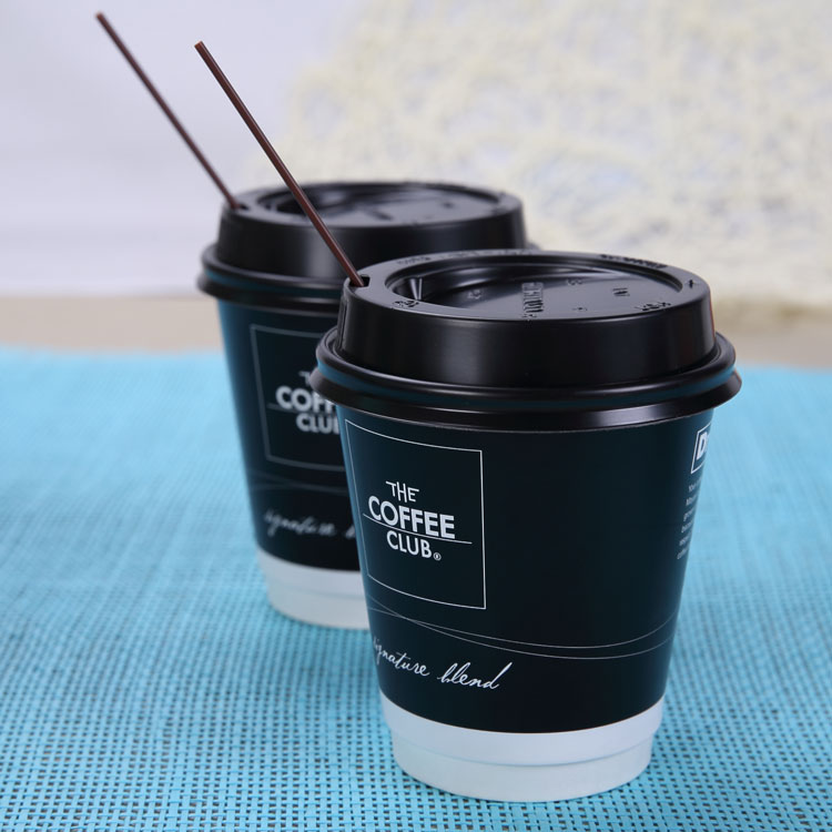 custom logo offset printed 8oz double wall coffee paper cup