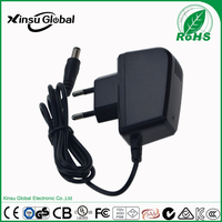CE ROHS EU plug 5v 1a adaptor with indicator light