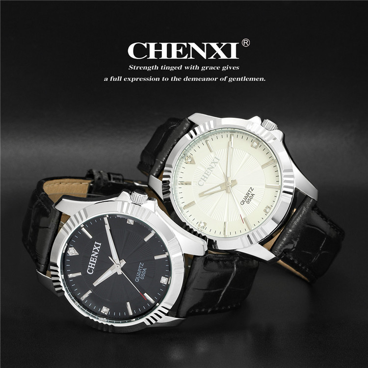 <strong>050</strong> <strong>A</strong> 6 CHENXI Sports Watch Men Multifunction Leather Strap Chronograph Quartz Clocks Hot Sale Brand Male Gift Watches