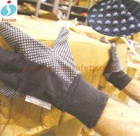 Good!Safety glove brown jersey webbed gloves