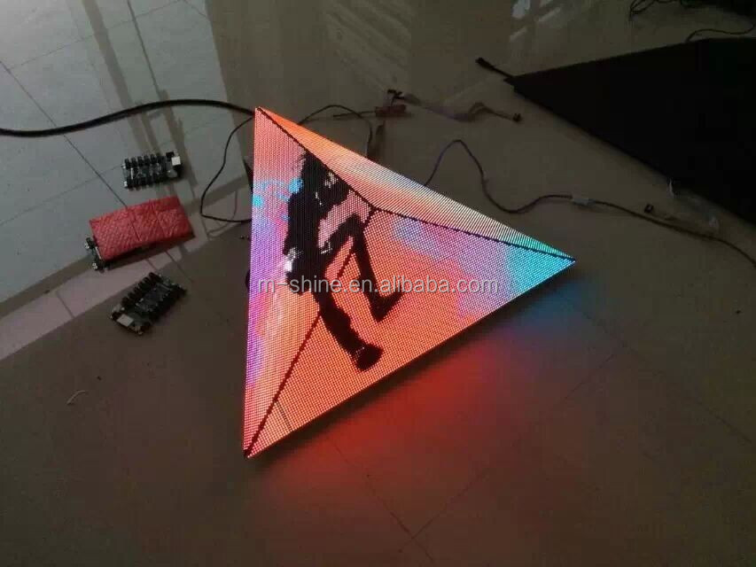 Triangle led display/indoor/outdoor/led screen/