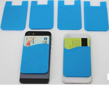 for iphone 5 christmas case, Mobile phone bag with sticker silicone+3M , mobile Card Holder 3m sticker smart phone pocket