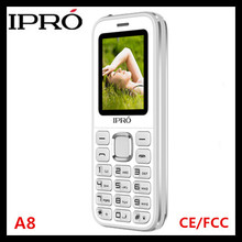 Factory directly sell IPRO A8 2.4 inch basic phone 2G gsm mobile phones with prices list torch MP3 MP4 FM for South America