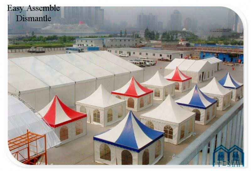 20x50m luxury marquee bed structure for 1000 people