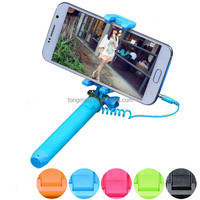 Mini Folded Cable Monopod Selfie Stick